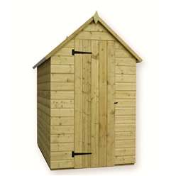 6 x 4 Windowless Pressure Treated Tongue and Groove Apex Shed with Single Door
