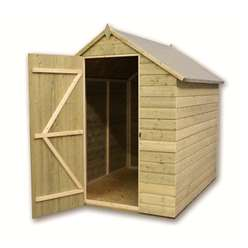 5ft x 5ft Windowless Pressure Treated Tongue and Groove Apex Shed with Single Door
