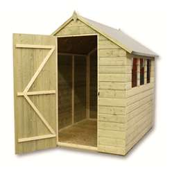 10ft x 5ft Pressure Treated Tongue and Groove Apex Shed With 4 Windows And Single Door
