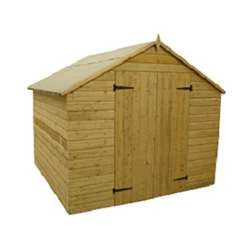 10ft x 8ft Windowless Pressure Treated Tongue and Groove Apex Shed with Double Doors