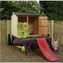 Tower + Slide Playhouse 4ft x 3ft (6ft x 10ft with Slide and Tower)