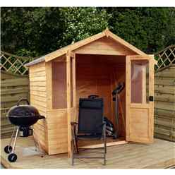 7 x 5 Value Overlap Wooden Summerhouse (10mm Solid OSB Floor) - 48HR + SAT Delivery*