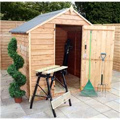 6 x 6 Windowless Value Overlap Apex Shed with Single Door (10mm Solid OSB Floor)