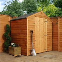 4 x 6 Windowless Value Wooden Overlap Apex Shed With Single Door (10mm Solid OSB Floor) - 48HR + SAT Delivery*