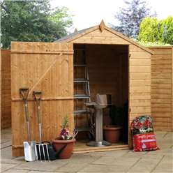 4 x 6 Windowless Value Wooden Tongue and Groove Apex Garden Shed with Single Door (10mm Solid OSB Floor and Roof) - 48HR + SAT Delivery*