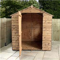 6ft x 6ft Windowless Value Wooden Tongue and Groove Apex Garden Shed (10mm Solid OSB Floor and Roof) - 48HR + SAT Delivery*