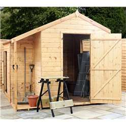 8ft x 8ft Tongue and Groove Wooden Combi Garden Store - 48HR + SAT Delivery*