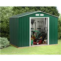 **PRE ORER - DUE BACK IN STOCK 22ND AUGUST** 8 x 10 Budget Metal Shed (2.61m x 3.02m)