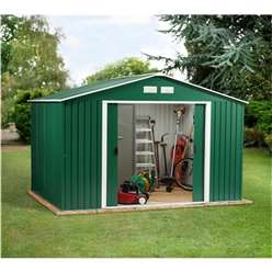 **PRE ORDER - DUE BACK IN STOCK 19TH OCTOBER** 10 x 10 Budget Metal Shed (3.21m x 3.02m)