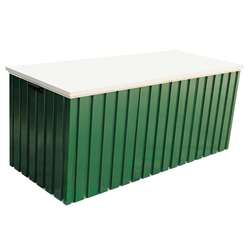 4ft x 2ft Deluxe Green Metal Storage Box (1.28m x 0.68m)