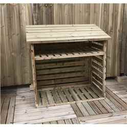 4 x 2 Pressure Treated Tongue and Groove Small Log Store