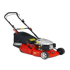 Rear Roller Rotary Push Lawnmower - 46cm - Cobra RM46C - Free Oil and Free Next Day Delivery*