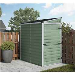 6ft x 4ft Plastic Apex Garden Shed (1.86m x 1.25m) *FREE 48 HOUR DELIVERY*
