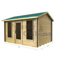 3.5m x 2.5m (12ft x 8ft) Log Cabin (2038) - Double Glazing (44mm Wall Thickness)