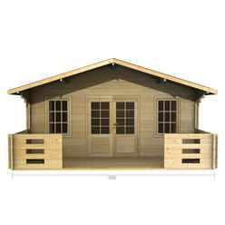 5m x 3m (16 x 10) Log Cabin (2087) - Double Glazing (44mm Wall Thickness)