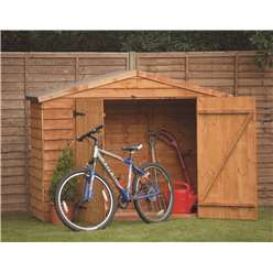 7ft x 3ft (2.13m x 0.85m) Select Overlap Bike Shed + Double Doors