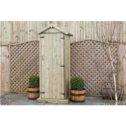 Redwood Pressure Treated Sentry Garden Storage Shed