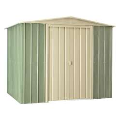**PRE ORER - DUE BACK IN STOCK 5TH SEPTEMBER** 8 x 6 Premier EasyFix Mist Green Apex Shed (2.33m x 1.75m)