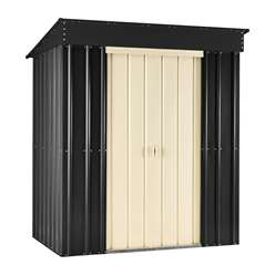 **PRE ORDER - DUE BACK IN STOCK 19TH OCTOBER** 8 x 4 Premier EasyFix Slate Grey Pent Shed (2.46m x 1.23m)