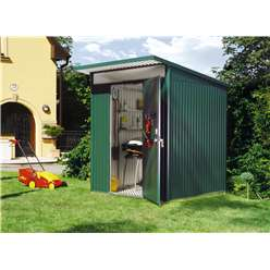 6 x 7 Medium Premier Heavy Duty Metal Dark Green Shed  (1.8m x 2.2m)