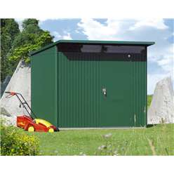 8 x 7 Large Premier Heavy Duty Metal Dark Green Shed  (2.6m x 2.2m)