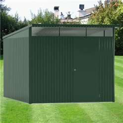 8 x 12 XX Large Premier Heavy Duty Metal Dark Green Shed With Double Doors (2.6m x 3.8m)