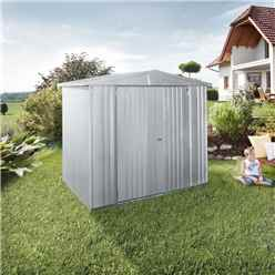 6ft x 5ft Premier Heavy Duty Metal Silver Metallic Shed (1.72m x 1.56m)
