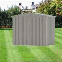8 x 5 Premier Heavy Duty Metal Quartz Grey Shed (2.44m x 1.56m)