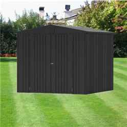 10ft x 7ft Premier Heavy Duty Metal Dark Grey Metallic Shed (3.16m x 2.28m)