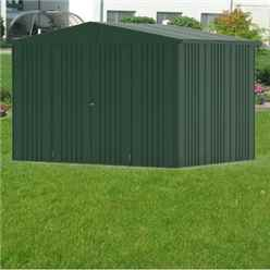 10 x 7 Premier Heavy Duty Metal Dark Green Shed (3.16m x 2.28m)