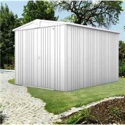 8ft x 10ft Premier Heavy Duty Metal Silver Metallic Shed (2.44m x 3.0m)