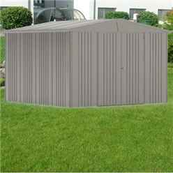 10ft x 10ft Premier Heavy Duty Metal Quartz Grey Shed (3.16m x 3.0m)