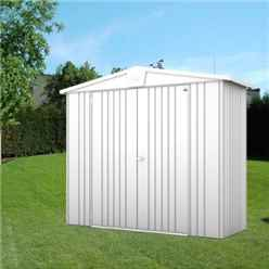 8ft x 3ft Premier Heavy Duty Metal Silver Metallic Shed (2.44m x 0.84m)