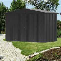 10 x 5 Premier Heavy Duty Metal Dark Grey Metallic Shed (3.16m x 1.56m)