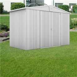 10ft x 5ft Premier Heavy Duty Metal Silver Metallic Shed (3.16m x 1.56m)