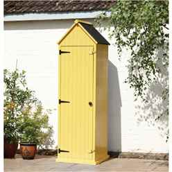 Yellow Brighton Beach Style Apex Sentry Storage Shed 2ft x 2ft