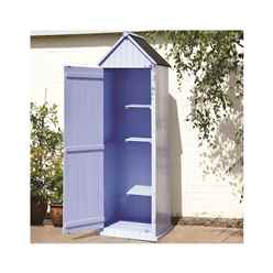 Blue Brighton Beach Style Apex Sentry Storage Shed 2ft x 2ft