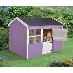 6ft x 4ft Apricot Playhouse