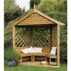 9ft x 8ft Half Burford Arbour - Assembled