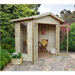 8ft x 8ft Honeybourne Corner Summerhouse - Assembled