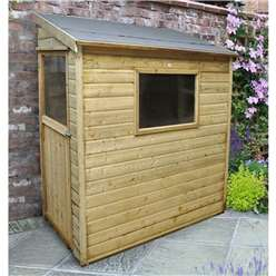 6ft x 3ft Shiplap Tongue and Groove Pressure Treated Wall Shed