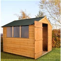 8 x 6 Shiplap Tongue and Groove Shed with Onduline Roof