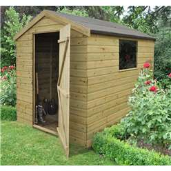 8 x 6 Professional Pressure Treated Shiplap Tongue and Groove Apex Shed