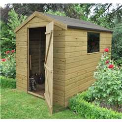 8ft x 6ft Professional Pressure Treated Shiplap Apex Shed - Assembled