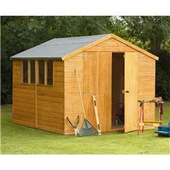 10ft x 8ft Shiplap Apex Workshop - Assembled