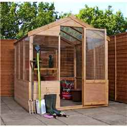 6 x 6 Shiplap Tongue and Groove Wooden Greenhouse