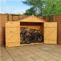 7 x 3 Shiplap Tongue and Groove Plus Wooden Bike Store - 48HR + SAT Delivery*