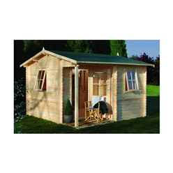 3.6m x 3.6m Log Cabin - 28mm Wall Thickness