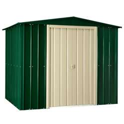 **PRE-ORDER: DUE BACK IN STOCK 24TH OCTOBER** 8 x 3 Heritage Green Metal Shed