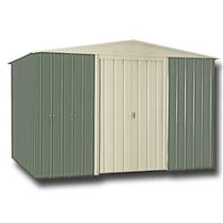 10 x 12 Mist Green Metal Shed